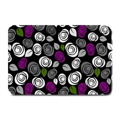 Purple Roses Pattern Plate Mats by Valentinaart