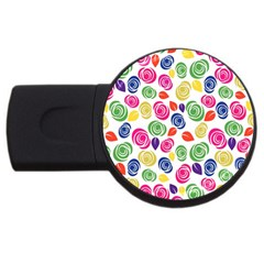 Colorful Roses Usb Flash Drive Round (2 Gb) by Valentinaart