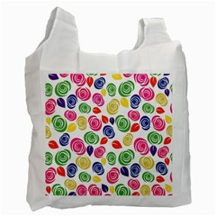 Colorful Roses Recycle Bag (one Side) by Valentinaart