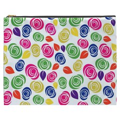 Colorful Roses Cosmetic Bag (xxxl)  by Valentinaart