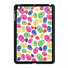 Colorful Roses Apple Ipad Mini Case (black) by Valentinaart