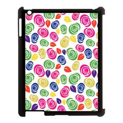 Colorful Roses Apple Ipad 3/4 Case (black) by Valentinaart