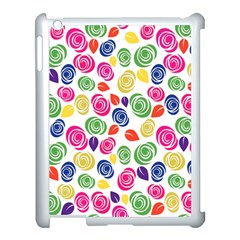 Colorful Roses Apple Ipad 3/4 Case (white) by Valentinaart