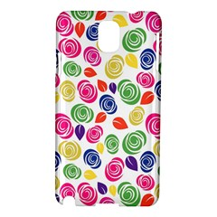 Colorful Roses Samsung Galaxy Note 3 N9005 Hardshell Case by Valentinaart
