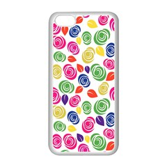 Colorful Roses Apple Iphone 5c Seamless Case (white) by Valentinaart