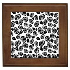 Black Roses Pattern Framed Tiles