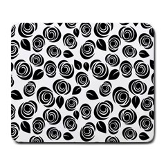 Black Roses Pattern Large Mousepads by Valentinaart