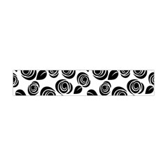 Black Roses Pattern Flano Scarf (mini) by Valentinaart