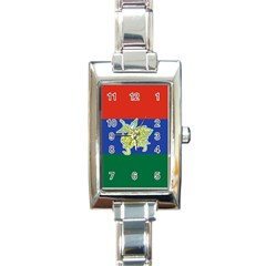 Flag Of Myanmar Kayah State Rectangle Italian Charm Watch by abbeyz71