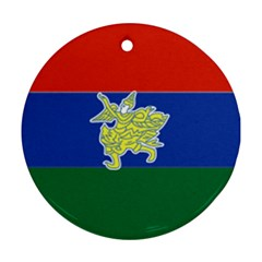 Flag Of Myanmar Kayah State Ornament (round) by abbeyz71