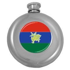 Flag Of Myanmar Kayah State Round Hip Flask (5 Oz) by abbeyz71