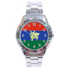 Flag Of Myanmar Kayah State Stainless Steel Analogue Watch by abbeyz71