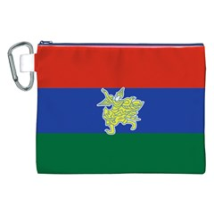 Flag Of Myanmar Kayah State Canvas Cosmetic Bag (xxl) by abbeyz71
