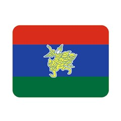 Flag Of Myanmar Kayah State Double Sided Flano Blanket (mini)  by abbeyz71