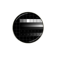 Grayscale Test Pattern Hat Clip Ball Marker (10 Pack)