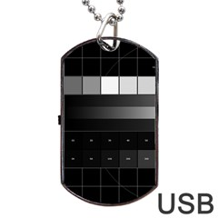 Grayscale Test Pattern Dog Tag Usb Flash (two Sides)