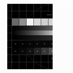 Grayscale Test Pattern Small Garden Flag (two Sides)