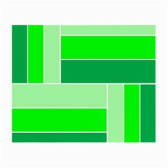 Green Shades Geometric Quad Small Glasses Cloth by Nexatart