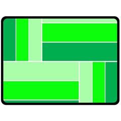 Green Shades Geometric Quad Fleece Blanket (large)