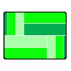 Green Shades Geometric Quad Fleece Blanket (small) by Nexatart