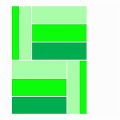 Green Shades Geometric Quad Small Garden Flag (two Sides)