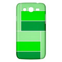 Green Shades Geometric Quad Samsung Galaxy Mega 5 8 I9152 Hardshell Case  by Nexatart