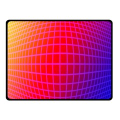 Grid Diamonds Figure Abstract Fleece Blanket (small)