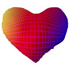 Grid Diamonds Figure Abstract Large 19  Premium Heart Shape Cushions