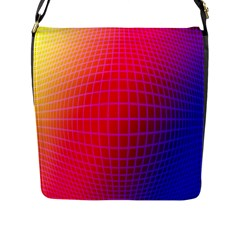 Grid Diamonds Figure Abstract Flap Messenger Bag (l)  by Nexatart