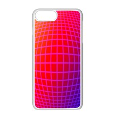 Grid Diamonds Figure Abstract Apple Iphone 7 Plus White Seamless Case by Nexatart