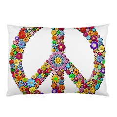 Groovy Flower Clip Art Pillow Case (two Sides)