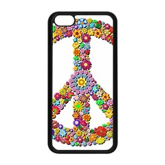 Groovy Flower Clip Art Apple Iphone 5c Seamless Case (black)