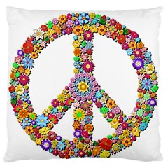 Groovy Flower Clip Art Large Flano Cushion Case (one Side) by Nexatart
