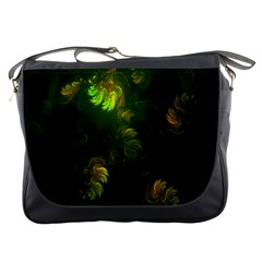 Light Fractal Plants Messenger Bags