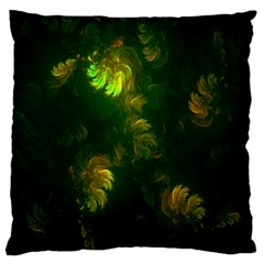 Light Fractal Plants Large Cushion Case (one Side) by Nexatart