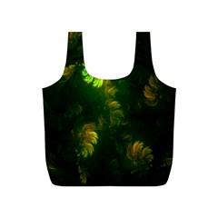 Light Fractal Plants Full Print Recycle Bags (s)  by Nexatart