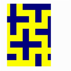 Pattern Blue Yellow Crosses Plus Style Bright Large Garden Flag (two Sides)