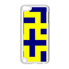 Pattern Blue Yellow Crosses Plus Style Bright Apple Ipod Touch 5 Case (white) by Nexatart