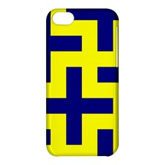Pattern Blue Yellow Crosses Plus Style Bright Apple Iphone 5c Hardshell Case by Nexatart