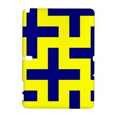 Pattern Blue Yellow Crosses Plus Style Bright Galaxy Note 1