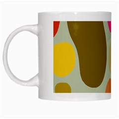 Pattern Design Abstract Shapes White Mugs by Nexatart