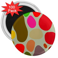 Pattern Design Abstract Shapes 3  Magnets (100 pack) by Nexatart
