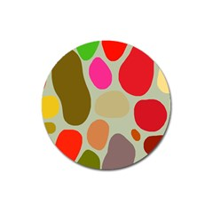 Pattern Design Abstract Shapes Magnet 3  (round) by Nexatart