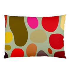 Pattern Design Abstract Shapes Pillow Case by Nexatart