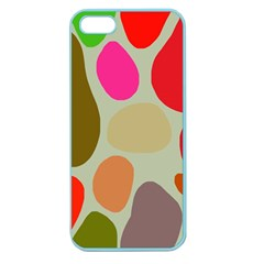 Pattern Design Abstract Shapes Apple Seamless Iphone 5 Case (color) by Nexatart