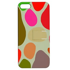 Pattern Design Abstract Shapes Apple iPhone 5 Hardshell Case with Stand by Nexatart