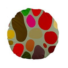 Pattern Design Abstract Shapes Standard 15  Premium Flano Round Cushions