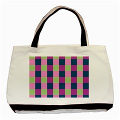 Pink Teal Lime Orchid Pattern Basic Tote Bag (two Sides) by Nexatart