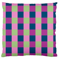 Pink Teal Lime Orchid Pattern Large Cushion Case (two Sides)