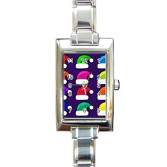Santa Hats Santa Claus Holidays Rectangle Italian Charm Watch